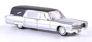 NEO Cadillac S&S in zilver en zwart 1-87