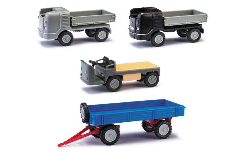 Other Vehicles Busch Mehlhose Anhänger T4 Blau/roter Rahmen 210010224 Diecast & Toy Vehicles