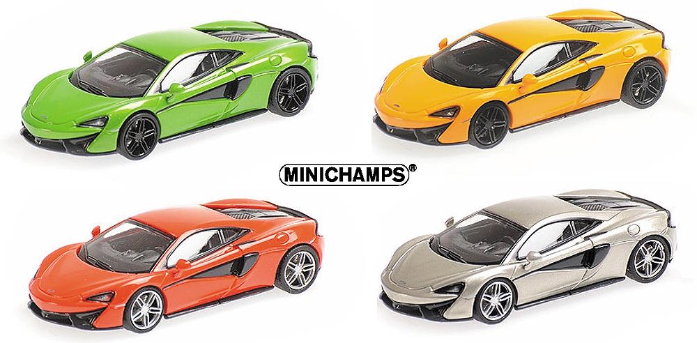 #870154542 Minichamps mclaren 570s-verde 1:87